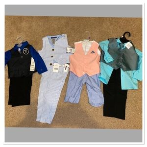 Bundle of 4 boys 12 month & 18 month matching sets